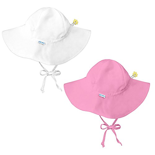 i play. 2 Pack UPF 50+ Sun Protection Brim Sun Hats/Beach Hats-2T-4T-Lt. Pink