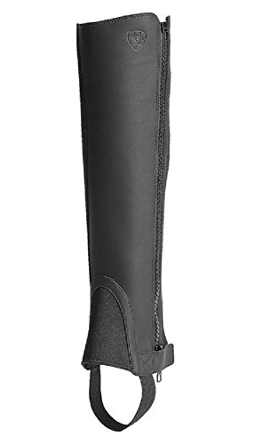 Ariat Black Horse Riding Leather Scout Chap Full Side Zip Footwear