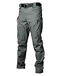 Les umes Mens Cargo Tactical Trail Ripstop Rugged Pants