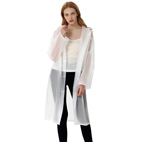 Raincoat EVA Rain Coats Waterproof Rain Poncho Reusable Unisex Men Women Long Rain Cape Clear Jacket with PVC Hat