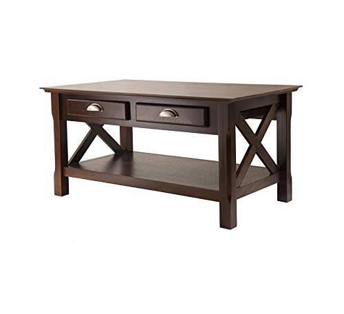 Wood & Style Furniture Xola Occasional Table, Cappuccino Finish Home Office Commerial Heavy Duty Strong Décor