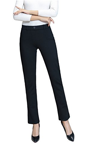 NEW with FUNCTIONAL back pockets Womens Yoga Dress Pants from Mauvana, Large (Inc Dress Pants)