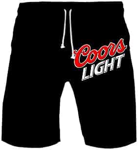 8cf42621ad106 Coors Light Blue Beer Logo Men's Summer Holiday Quick-Drying Swim Trunks  Beach Shorts Board