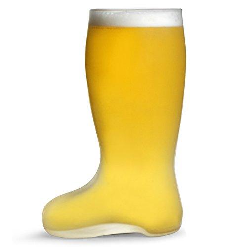 deutscher Stil Bierstiefel Mattiertes Glas Bier Boot 1 Pint-Glas