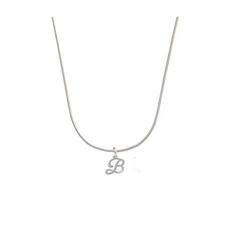 Mini Gelato Script Initial - B - Charm Necklace