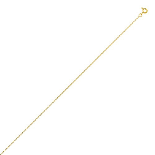 DIAMANTLY Collier or 750 maille forcat rond 1,2 mm - 42 cm