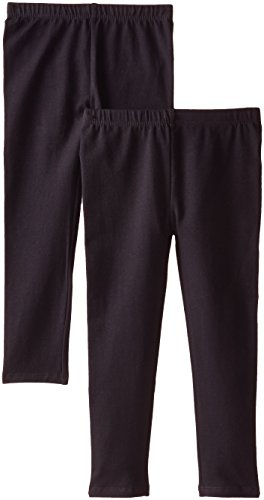 The Children's Place Big Girls'  Solid Legging (Pack of 2), Black, Small (5/6)