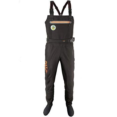 Obcursco Iwader Breathable Stockingfoot Fishing Chest Waders-Durable 3 Layer Polyester in 4-Way Stretch Construction. Ideal for Fly Fishing and Duck Hunting (7) (Best Fly Fishing Boots 2019)