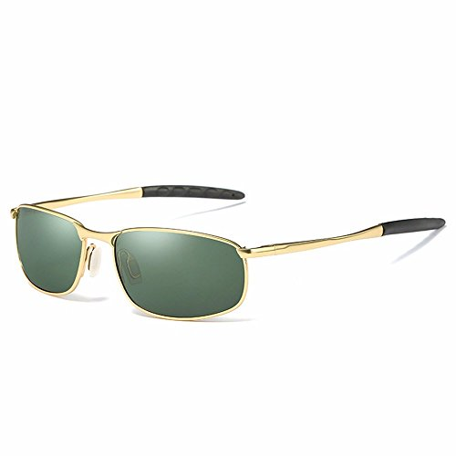 Sunglasses/male polarized sunglasses/driving driver mirror/men's fashion sunglasses,Gold frame ink green sheet (Ink Frame Sunglasses)