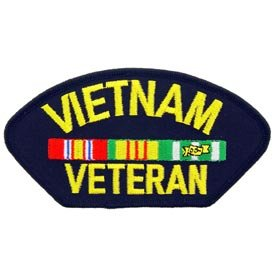 Vietnam Veteran Embroidered Patch Military Collectibles, Patriotic Gifts for Men, Women, Teens, Veterans Great Gift Idea for Wife, Husband, Relative, Boyfriend, Girlfriend, Grandparent, Fiance or Friend. Perfect Christmas Stocking Stuffer or Veterans Day Gift Idea. Design: For Women or Men!