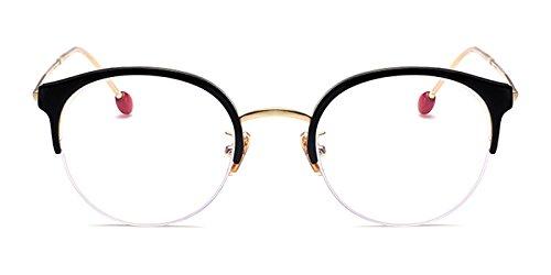Slocyclub Mens Semi-Rimless Wayfarer Flex TR90 Temple Frame - Online Rimless Eyeglasses Semi