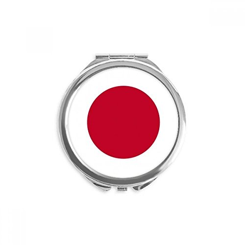 Japan National Flag Asia Country Mirror Round Portable Hand Pocket Makeup (Japan Stainless National)
