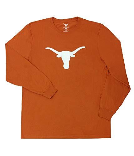 Elite Fan Shop Texas Longhorns Long Sleeve Tshirt Icon Orange - L ()