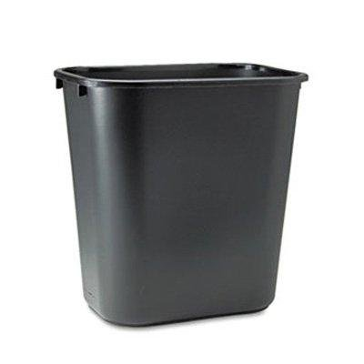 Soft Molded Plastic Wastebaskets (Rubbermaid® Commercial Soft Molded Plastic Wastebasket - 7 Gal Black)