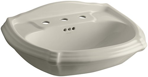 KOHLER K-2222-8-G9 Portrait Pedestal Bathroom Sink Basin with 8