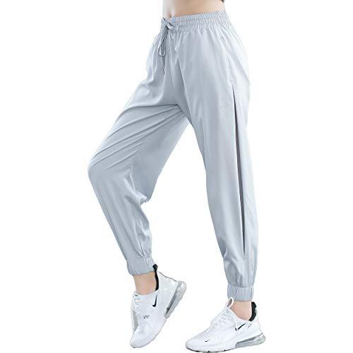 KDi Women's Leisure Running Sweatpants Joggers Pants (S, Gray)