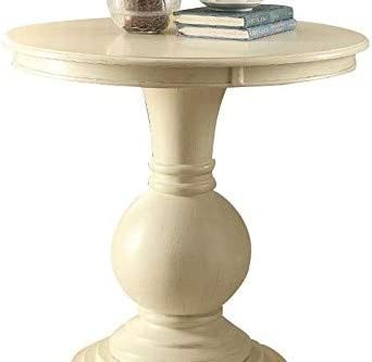 ACME Furniture 82818 Alyx Side Table, Antique White, One Size