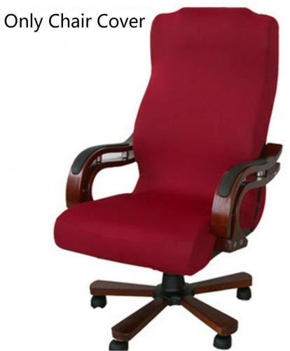 (CAVEEN Office Chair Cover Computer Chair Universal Boss Chair Cover Modern Simplism Style High Back Large Size (Chair not included) red large)