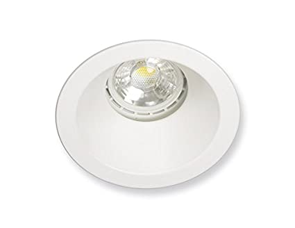 Aro fijo empotrable IP65 para baño/cocina con portalámparas GU10, diámetro de corte 73mm