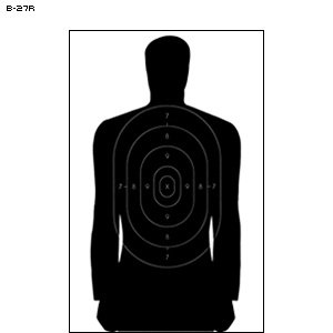 24'' X 45'' B-27RCB CARDBOARD TARGET 50 PACK by Law Enforcement Targets