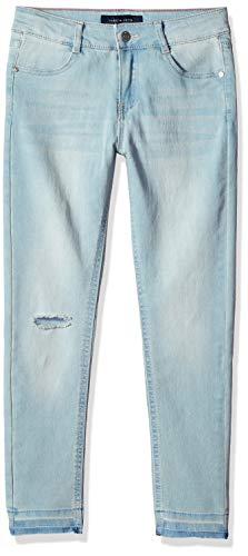 Tommy Hilfiger Big Girl's Big Girls' Skinny Stretch Denim Jean Pants, pale blue, 14