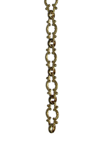 RCH Hardware CH-36-PB Decorative Polished Solid Brass Chain for Hanging, Lighting - Motif Unwelded Links (1 Foot) by RCH Hardware