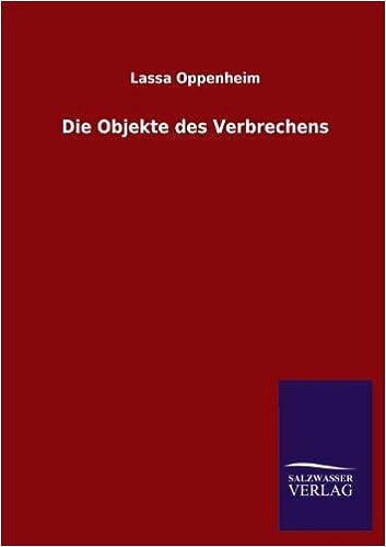 Book Die Objekte Des Verbrechens
