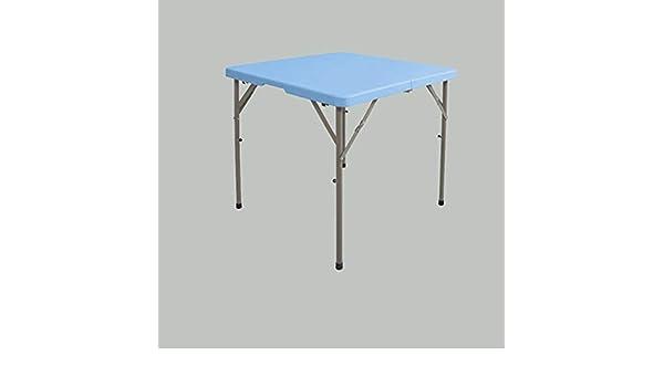 LYLLYL Mesa Plegable/Mesa de Comedor casera Cuadrada/Mesa Cuadrada pequeña portátil Plegable/Mesa Cuadrada portátil Exterior/Mesa de ajedrez Mesa Plegable (Color : D): Amazon.es: Hogar