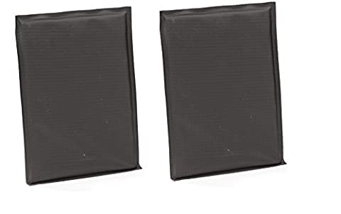 Total of 2 bullet and knife resistant personal protection plates (Black Square Cut, 6