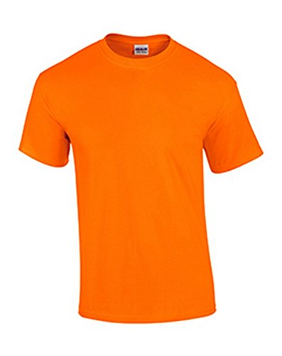 Gildan Mens Ultra Cotton 6 oz. T-Shirt(G200)-Safety ORANGE-4XL