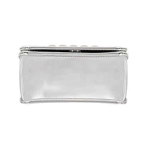 Silver Body Cross Party PU Women Hologram Bag Novias Shoulder Bag Handbags Silver4 Shiny Girls Boutique BFax0nOw