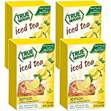 LEMON ICED TEA MIX by TRUE LEMON | Instant Powdered Drink Packets That Quench YOUR Thirst, Kit Includes 4 Boxes, 24ct of Mouth Watering True Citrus LEMON (ICED TEA)