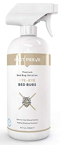Pest Peeve Bye-Bye Bed Bugs - Powerful Bedbug Spray - Home Defense Treatment - Eco-Friendly and Kind to The Family (32 oz)