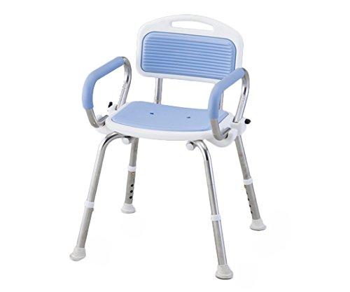 アズワン 業務用シャワー椅子(ステンレスフレーム) 肘無し ブルー/8-2332-03 B00SUGYYV2 ブルー|8-2332-03 ブルー