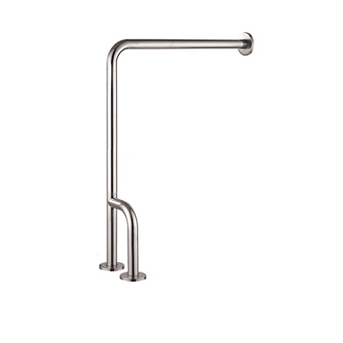 (LKK Stainless Steel L-Shaped handrail Bathroom Toilet Safety Support bar Toilet Toilet Railing Handle Elderly Booster (Color : B))