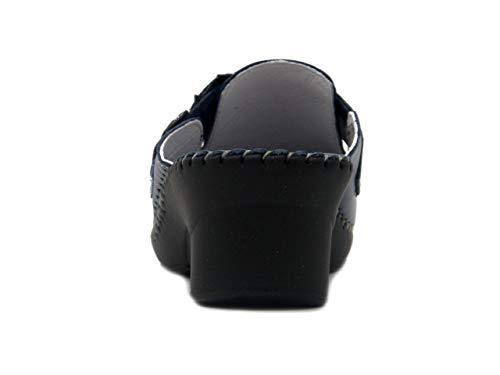 Soft In Comfort 40011 Pantofola Cm Con Pelle Blu Strap Cinzia Donna 5 Zeppa FpqUOxdFw