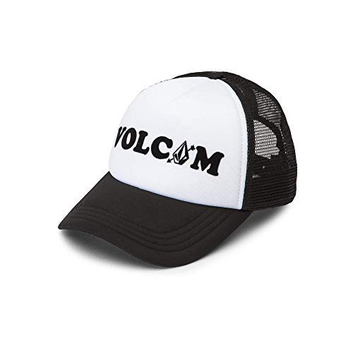 Volcom Junior's Women's Good Timez Adjustable Trucker Hat, White, One Size Fits All ()