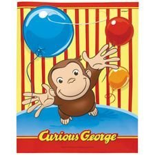 Curious George Treat Bags Party Favors 8pc by Lgp