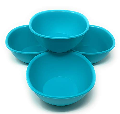 Tupperware Legacy Pinch Cereal or Soup Bowls Set of 4 Pastel Mint Blue ()