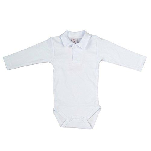 Baby Hemd - Body weiß für Jungen mit Polokragen Basic (74)
