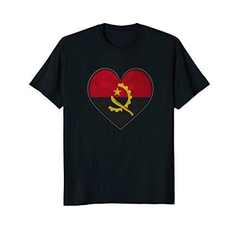 Love Angola Big Heart Shape Distressed T-Shirt