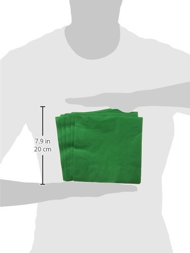 Amscan Big Party Pack 250 Count Luncheon Napkins, Green by Amscan