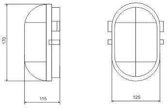 Fabricado en la UE. cubierta de cristal 60 W Pack de 2 bombillas para s/ótano E27 IP54 rejilla de metal m/áx color blanco
