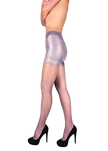 Sheer Shaping Pantyhose Slimming Lifting Shaper Nylon Tights Push Up Effect (Perle, M)