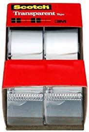 Scotch Transparent Tape, 3/4 in x 250 in, 2 Rolls (2157SS)