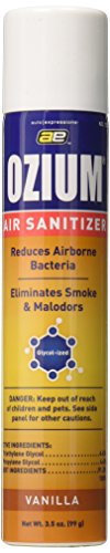 OZIUM Air Sanitizer, Cleans the Air You Breath, 3.5 oz, Vanilla (1)