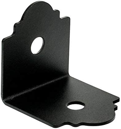 Simpson Strong-Tie APA4 3-1//4 X 3 Outdoor Accents Angle Powder Coated Black Pack of 12