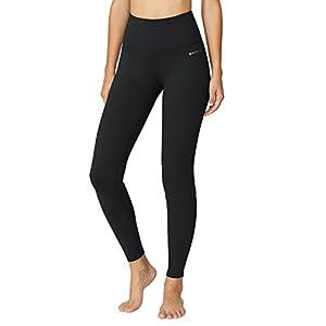 Baleaf Women's High Waist Yoga Pants Non See-Through Fabric Black Size M