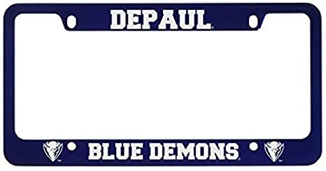 Amazon com : DePaul University -Metal License Plate Frame