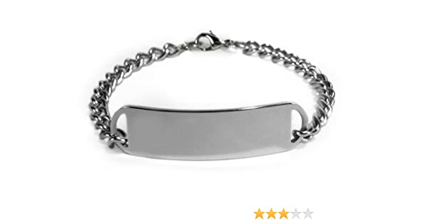 Amazon.com: WARFARIN Medical ID Alert Bracelet with Embossed emblem from stainless steel. D-Style, premium series.: Health & Personal Care